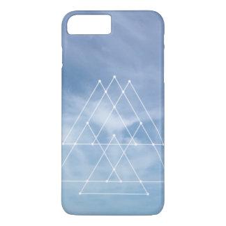 iPhone 7 geometrischer Entwurf der blauen Himmel iPhone 8 Plus/7 Plus Hülle