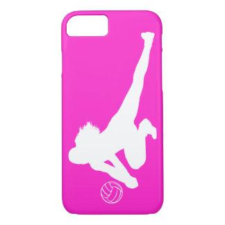 iPhone 7 Grabungs-Silhouette-Weiß auf Rosa iPhone 8/7 Hülle