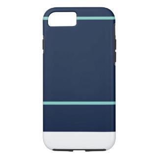 iPhone 7 Marine u. aquamarines Streifen-Muster iPhone 8/7 Hülle