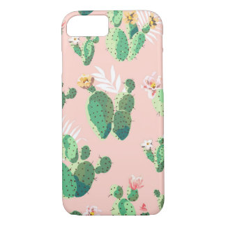 iPhone 8/7 rosa Kaktussucculent-Fall iPhone 8/7 Hülle