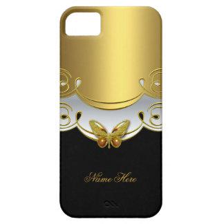 iPhone grünes GoldSchwarz-weißer Schmetterling iPhone 5 Schutzhülle