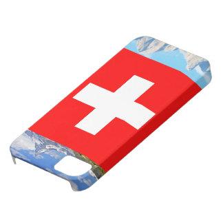 Iphone Hülle mit Schweizerflagge und Landschaft