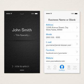 iPhone IOS-Art - einfaches generisches Visitenkarte