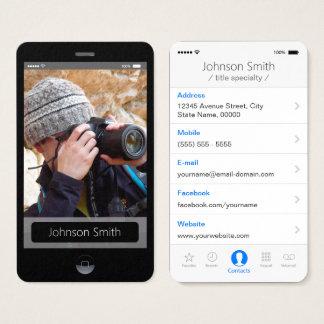 iPhone IOS-Art - persönliches Foto-Profil Visitenkarte
