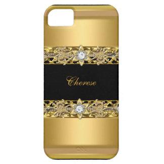 iPhone schwarzes BlumenImitat-Gold iPhone 5 Schutzhülle