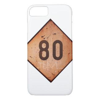 iPhone: Vintages Geschwindigkeits-Zug-Zeichen der iPhone 8/7 Hülle