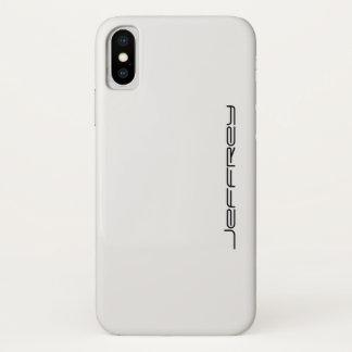 iPhone X Fall, weiß und schwarz, personalisiert iPhone X Hülle