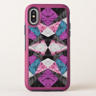 iPhone X Symmetrie-Fall-Marmor geometrisches G438 OtterBox Symmetry iPhone X Hülle