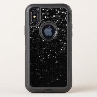 iPhone X Verteidiger-Fall-Schwarzes KristallBling OtterBox Defender iPhone X Hülle