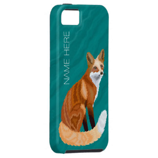 iphoneSE Art roten Fox Retro aquamariner iPhone 5 Hüllen