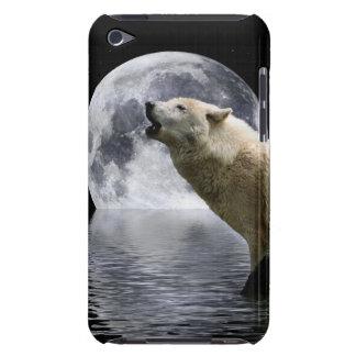 IPod-Kasten des Heulenwolf-Mond-wilden Tieres