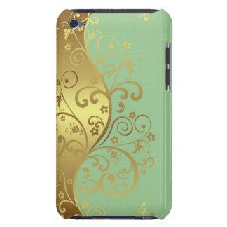 iPod-Kasten--Seafoam u. GoldWirbel Barely There iPod Case