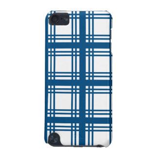 IPod-Touch-Kasten des Tartan-Elfenbeins (blauer) iPod Touch 5G Hülle