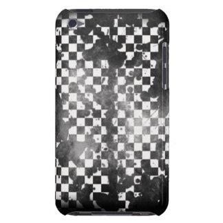 IPod-Touch-Weiß auf schwarzem Schachbrett Case-Mate iPod Touch Hülle