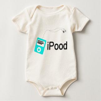 iPood-blau Baby Strampler