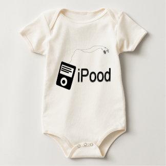 iPood-schwarz Baby Strampler