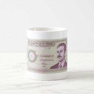 Irakischer Dinar mit Saddam Hussein Kaffee Haferl