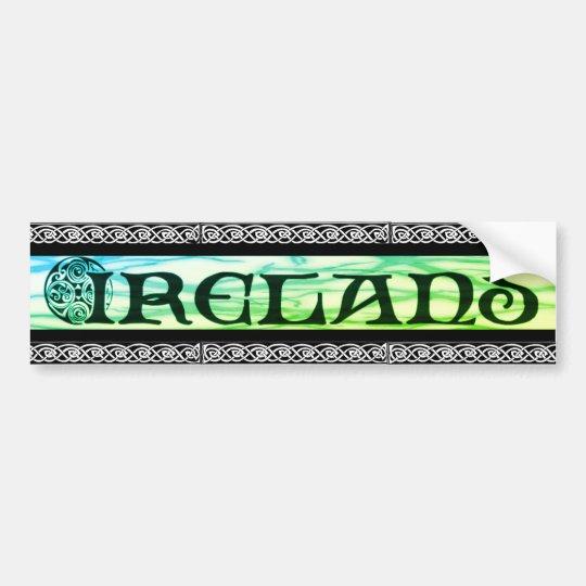 Ireland Sticker, Aufkleber, keltischer Knoten, Autoaufkleber