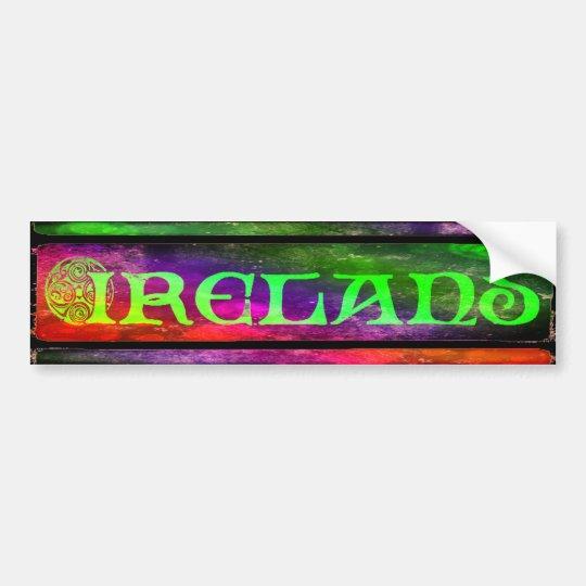 Ireland Sticker, Aufkleber, Regenbogen, bunt Autoaufkleber