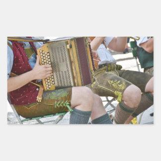 Iren-Band, die Musikinstrument-Aufkleber spielt Rechteckiger Aufkleber