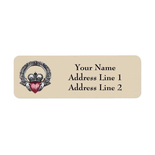 Iren Claddagh Adressen-Etikett