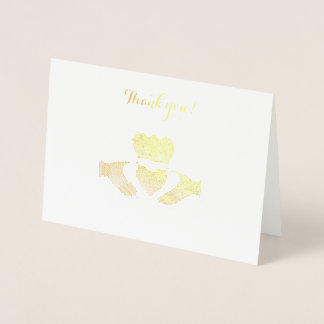 Iren Claddagh danken Ihnen zu merken Folienkarte