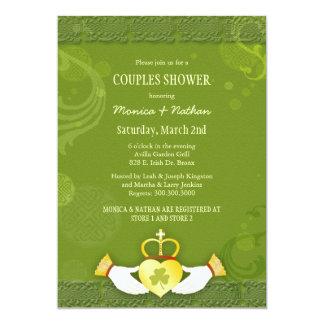 Iren Claddagh Herz-Hochzeits-Paar-Dusche 12,7 X 17,8 Cm Einladungskarte