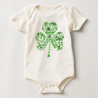 Iren-Kleeblatt St. Patricks Tages Baby Strampler