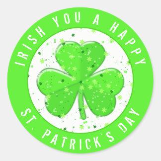 Iren Sie eines glücklichen St Patrick Runder Aufkleber