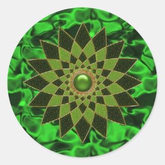 Iren-Stern-Juwel #1 Runder Aufkleber