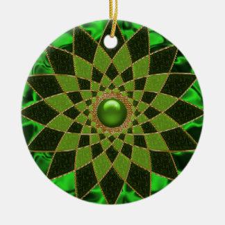 Iren-Stern-Juwel #1 Rundes Keramik Ornament