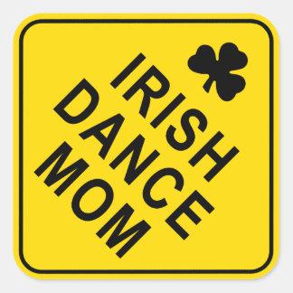 Iren-Tanz-Mamma Quadratischer Aufkleber