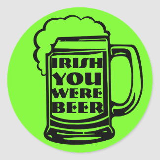 Iren waren Sie Bier Runder Aufkleber