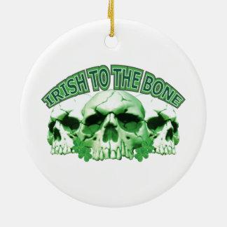 Iren zum Knochen-Schädel Rundes Keramik Ornament