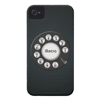 iRetro Drehc$alt-school BlackBerry-mutiger Kasten iPhone 4 Case-Mate Hülle