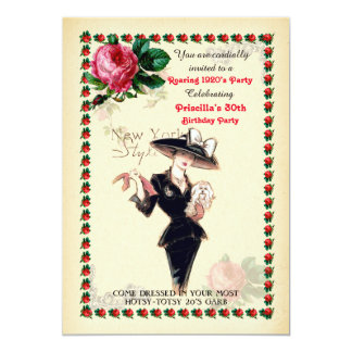 irgendein Alter, 60., Geburtstags-Partyfrau, 12,7 X 17,8 Cm Einladungskarte
