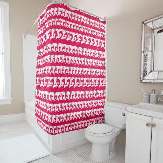 Irgendein Farbflamingo-Silhouette-Duschvorhang Duschvorhang