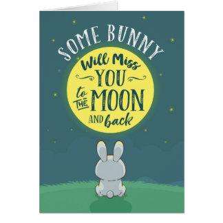 Irgendein Häschen wird Fräulein You zum Mond und Karte