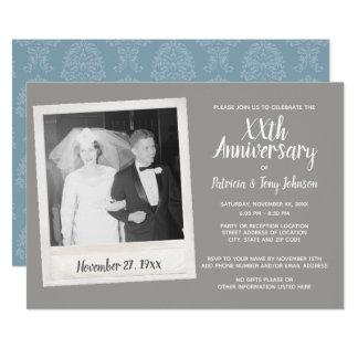 Irgendein Hochzeits-Jahrestag mit Vintagem Foto Karte