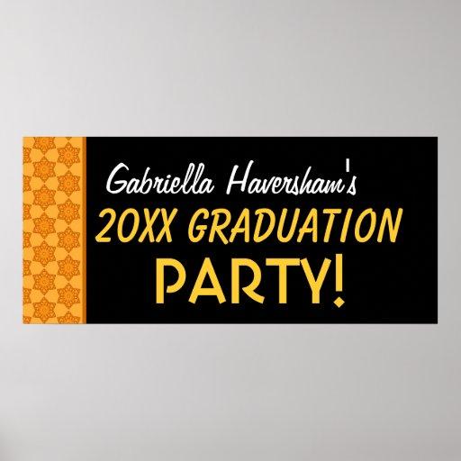 Irgendein Jahr-Abschluss-Party-Name-Gold Poster