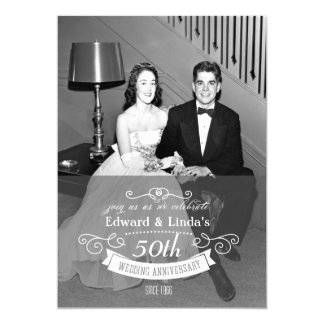 IRGENDEIN JAHR - Hochzeitstag-Einladung 12,7 X 17,8 Cm Einladungskarte