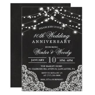 IRGENDEIN JAHR - Hochzeitstag-Kreide-Einladung Karte