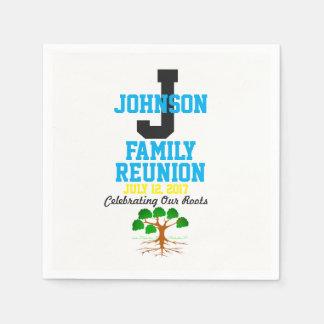 Irgendein Namensfamilien-Wiedersehen mit Papierserviette
