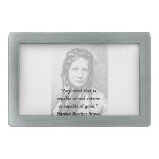 Irgendein Verstand - Harriet Beecher Stowe Rechteckige Gürtelschnalle