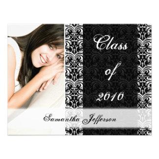 Irgendeine Jahr-Abschluss-Mitteilung, Chic-Schwarz Individuelle Einladungskarten