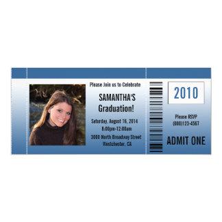 Irgendeine Year~ blaue Abschluss-Party-Karte 10,2 X 23,5 Cm Einladungskarte