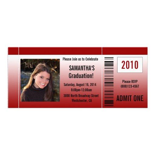 Irgendeine Year~ rote Abschluss-Party-Karten-Einla Personalisierte Ankündigungskarten