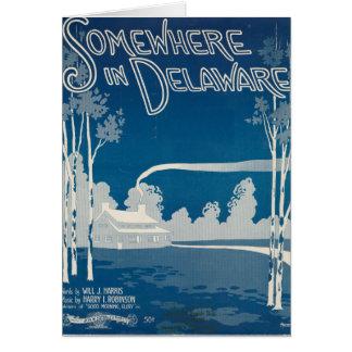 Irgendwo in Delaware-Karte Karte