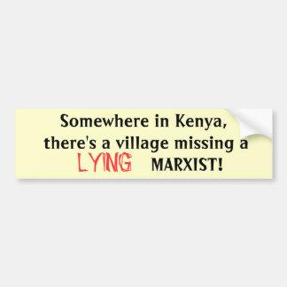Irgendwo in Kenia, gibt es ein vil… - Besonders Autoaufkleber