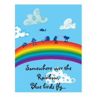 Irgendwo über dem Regenbogen Postkarte